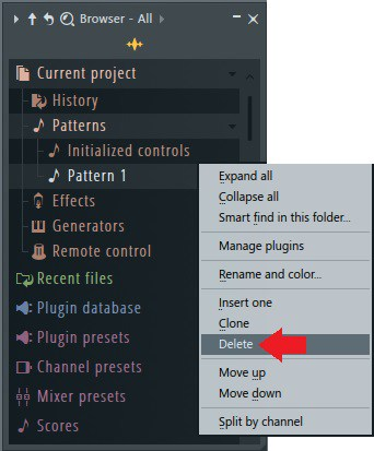 Delete an FL Studio volume automation event