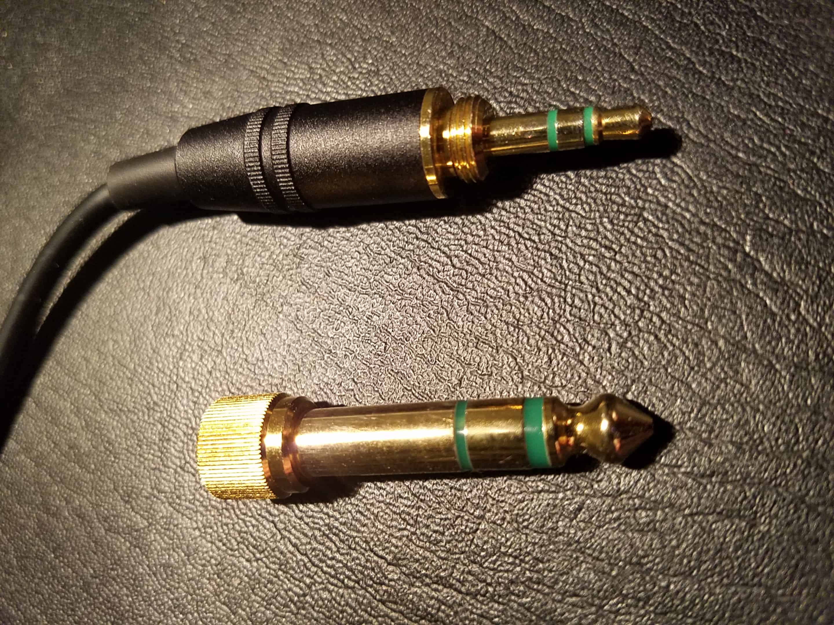 "1/4"" and 1/8"" trs connectors"