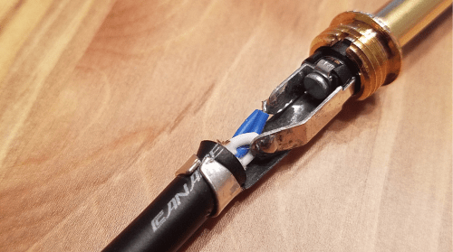 canare quarter inch cable solders