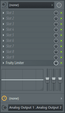 fl studio mixer fx panel
