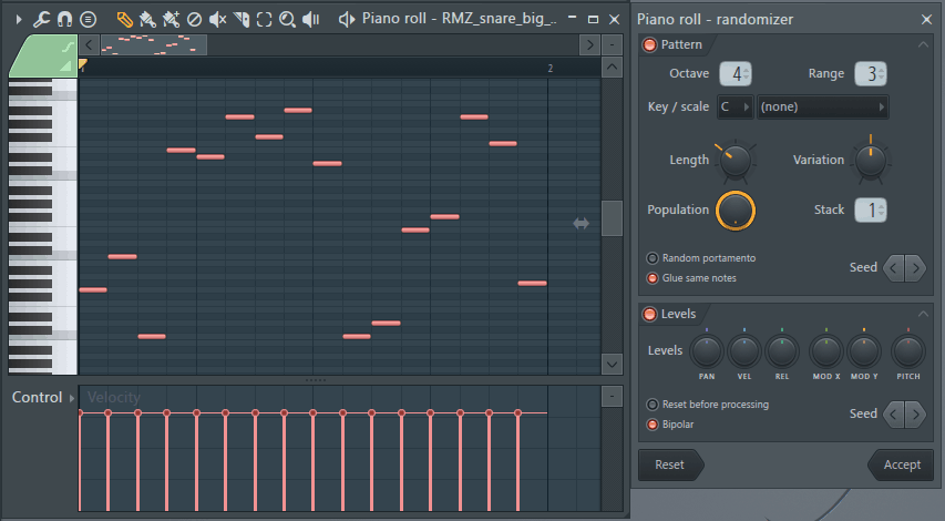 randomize velocity fl studio pattern randomizer